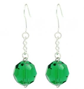 Green Crystal Ball Drop Fashion Earrings
